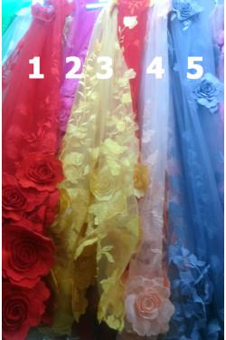 ÁO DÀI REN 529 (CÔNG+VẢI)